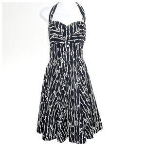 Anthro Girls from Savoy Traced Twirls Dress Sz 12